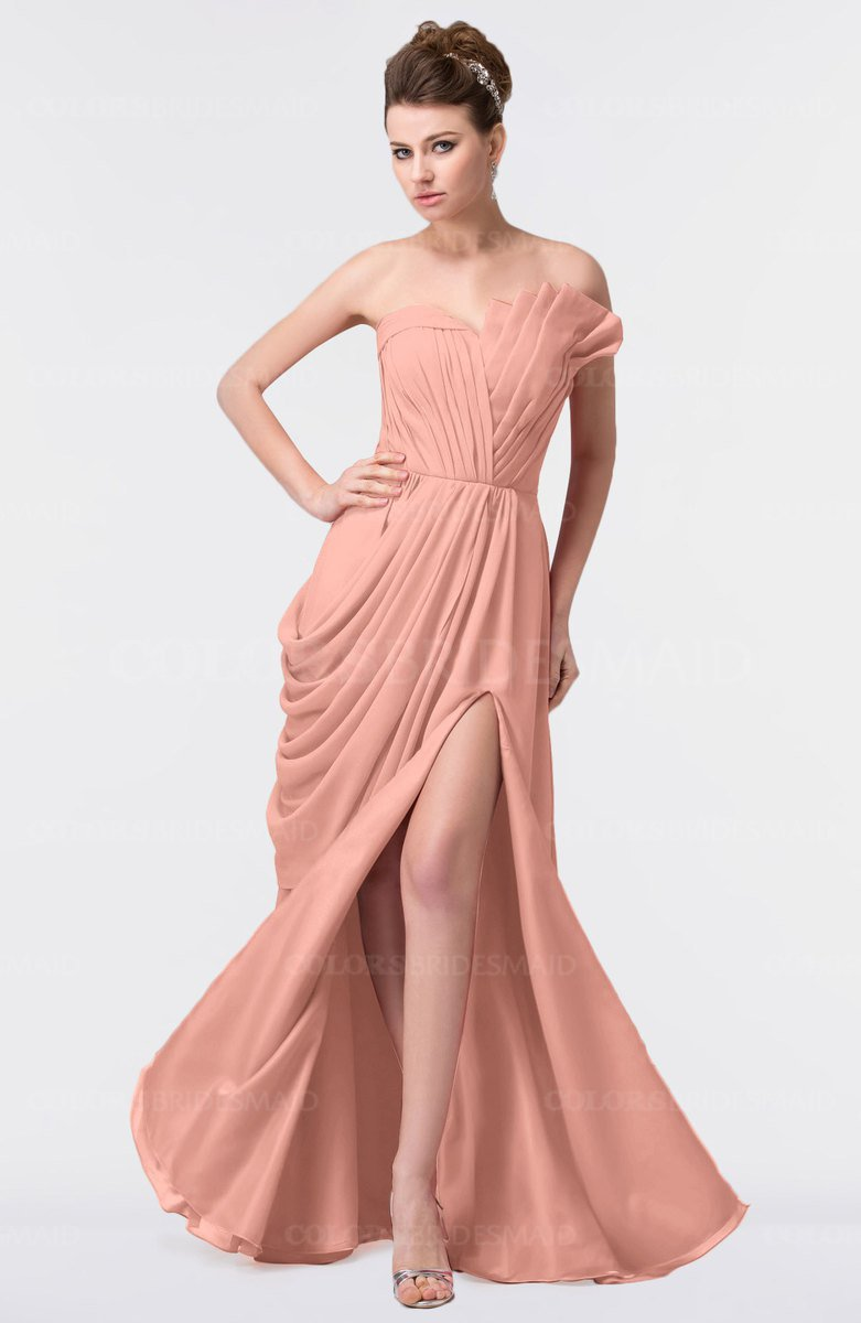 ColsBM Gwen Peach Bridesmaid Dresses - ColorsBridesmaid