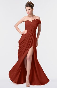 eff87f63705 ColsBM Gwen Rust Elegant A-line Strapless Sleeveless Backless Floor Length  Plus Size Bridesmaid Dresses