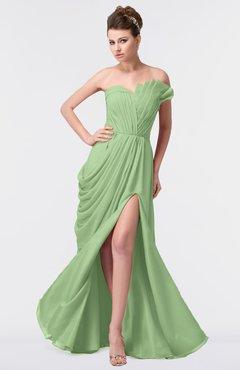 11c28be97afe ColsBM Gwen Sage Green Elegant A-line Strapless Sleeveless Backless Floor  Length Plus Size Bridesmaid