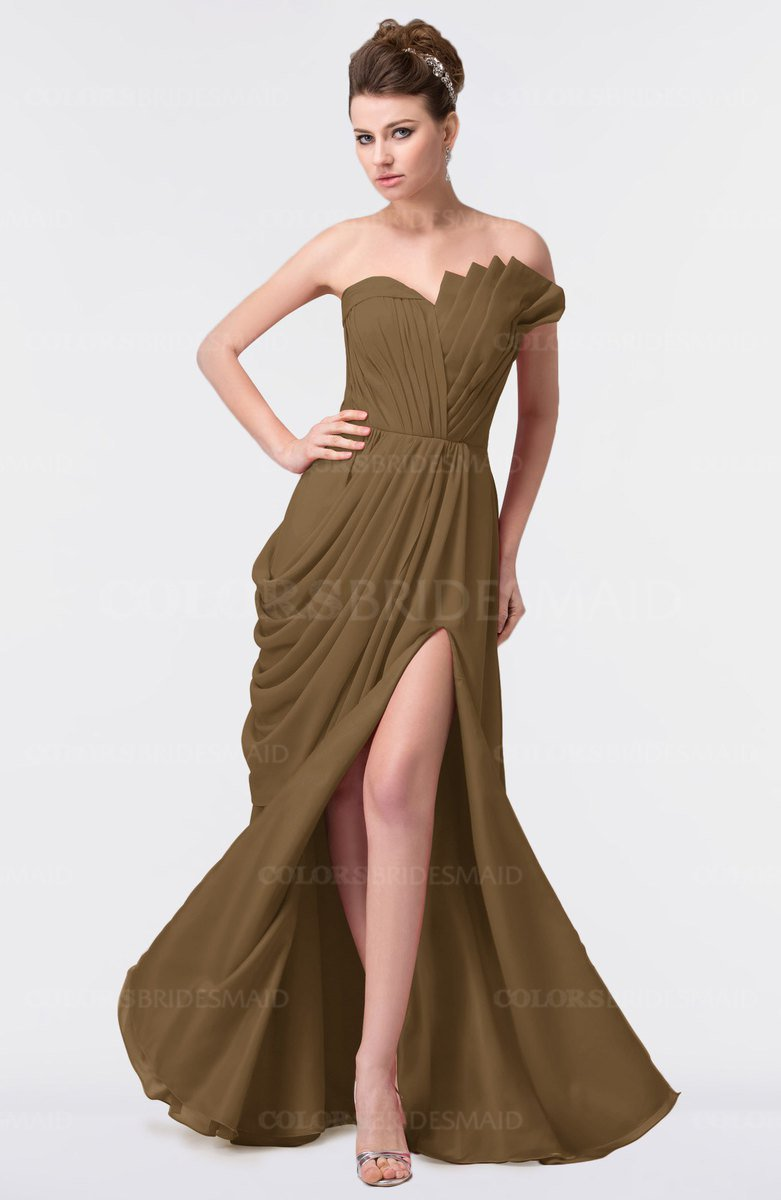 Truffle elegant a line strapless sleeveless backless floor length elegant a line strapless sleeveless backless floor length plus size bridesmaid dresses ombrellifo Image collections