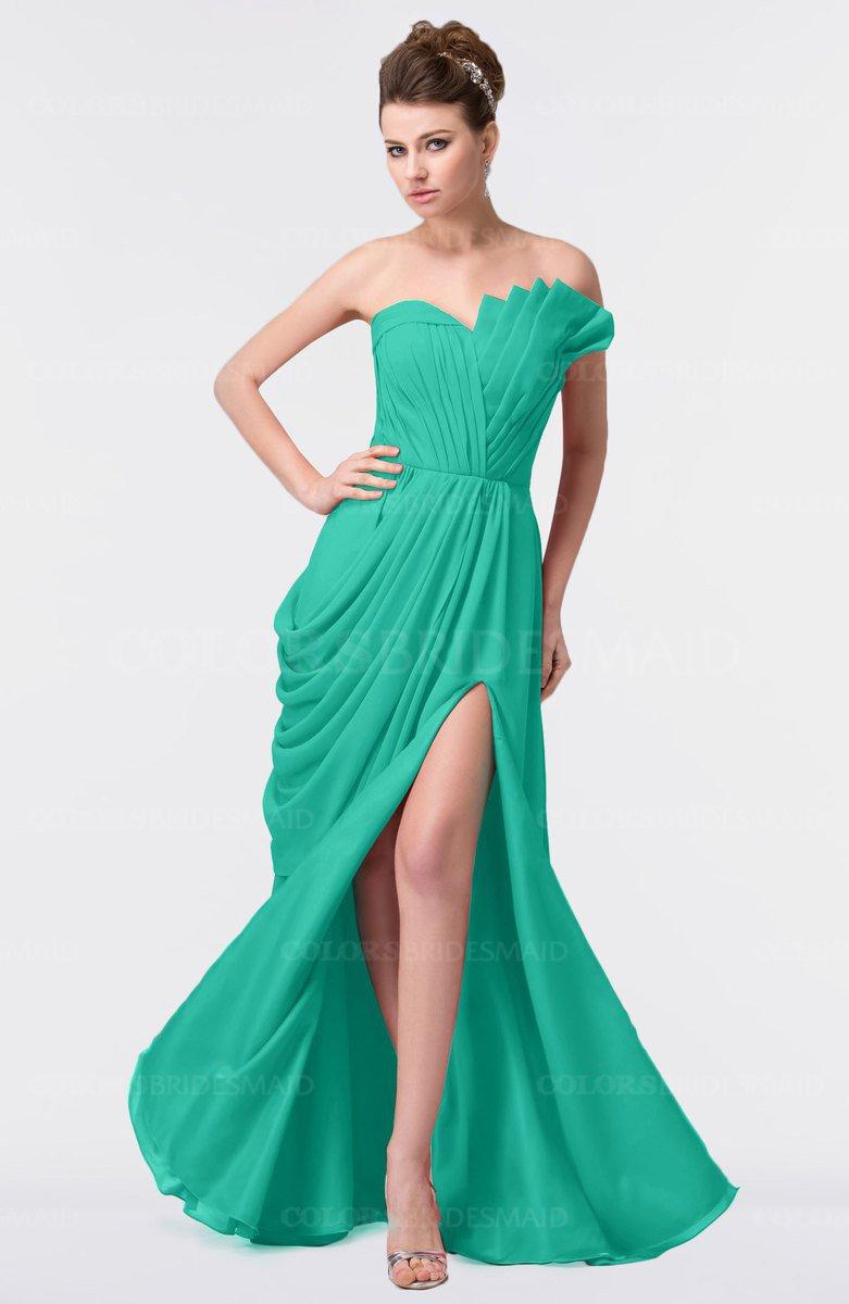 ColsBM Gwen Viridian Green Bridesmaid Dresses - ColorsBridesmaid