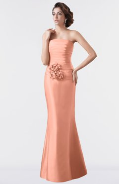 878555d61647 ColsBM Aria Salmon Classic Trumpet Sleeveless Backless Floor Length  Bridesmaid Dresses
