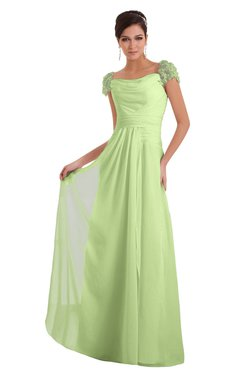 ColsBM Carlee Butterfly Elegant A-line Wide Square Short Sleeve Appliques Bridesmaid Dresses