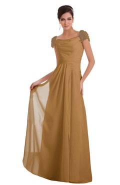 ColsBM Carlee Doe Elegant A-line Wide Square Short Sleeve Appliques Bridesmaid Dresses