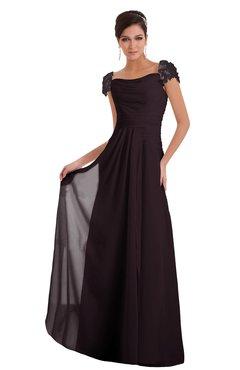 ColsBM Carlee Italian Plum Elegant A-line Wide Square Short Sleeve Appliques Bridesmaid Dresses