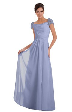 ColsBM Carlee Lavender Elegant A-line Wide Square Short Sleeve Appliques Bridesmaid Dresses