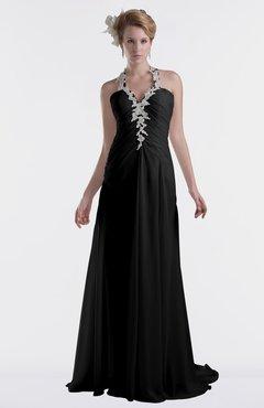 Black Bridesmaid Dresses Criss-cross Straps & Black Gowns ...