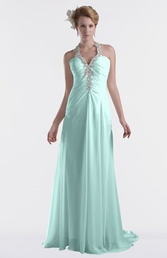 ColsBM Eden Blue Glass Cinderella A-line Sweetheart Sleeveless Criss-cross Straps Brush Train Plus Size Bridesmaid Dresses