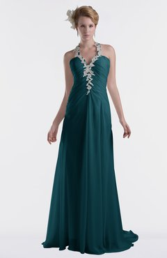 ColsBM Eden Blue Green Cinderella A-line Sweetheart Sleeveless Criss-cross Straps Brush Train Plus Size Bridesmaid Dresses