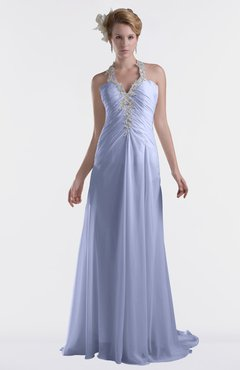 ColsBM Eden Blue Heron Cinderella A-line Sweetheart Sleeveless Criss-cross Straps Brush Train Plus Size Bridesmaid Dresses