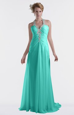 ColsBM Eden Blue Turquoise Cinderella A-line Sweetheart Sleeveless Criss-cross Straps Brush Train Plus Size Bridesmaid Dresses