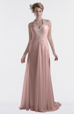 ColsBM Eden Blush Pink Cinderella A-line Sweetheart Sleeveless Criss-cross Straps Brush Train Plus Size Bridesmaid Dresses