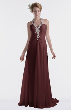 ColsBM Eden Burgundy Cinderella A-line Sweetheart Sleeveless Criss-cross Straps Brush Train Plus Size Bridesmaid Dresses