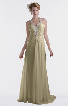 ColsBM Eden Candied Ginger Cinderella A-line Sweetheart Sleeveless Criss-cross Straps Brush Train Plus Size Bridesmaid Dresses