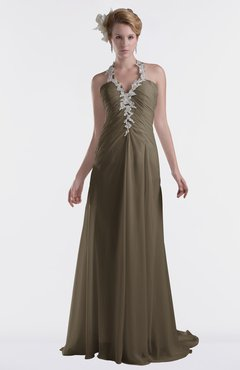 ColsBM Eden Carafe Brown Cinderella A-line Sweetheart Sleeveless Criss-cross Straps Brush Train Plus Size Bridesmaid Dresses