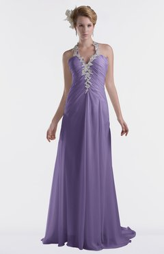ColsBM Eden Chalk Violet Cinderella A-line Sweetheart Sleeveless Criss-cross Straps Brush Train Plus Size Bridesmaid Dresses