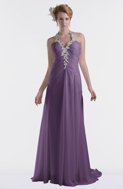 ColsBM Eden Chinese Violet Cinderella A-line Sweetheart Sleeveless Criss-cross Straps Brush Train Plus Size Bridesmaid Dresses