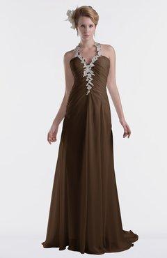 ColsBM Eden Chocolate Brown Cinderella A-line Sweetheart Sleeveless Criss-cross Straps Brush Train Plus Size Bridesmaid Dresses