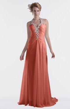 ColsBM Eden Crabapple Cinderella A-line Sweetheart Sleeveless Criss-cross Straps Brush Train Plus Size Bridesmaid Dresses