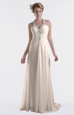 ColsBM Eden Cream Pink Cinderella A-line Sweetheart Sleeveless Criss-cross Straps Brush Train Plus Size Bridesmaid Dresses