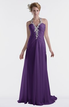 ColsBM Eden Dark Purple Cinderella A-line Sweetheart Sleeveless Criss-cross Straps Brush Train Plus Size Bridesmaid Dresses