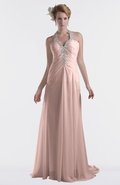 ColsBM Eden Dusty Rose Cinderella A-line Sweetheart Sleeveless Criss-cross Straps Brush Train Plus Size Bridesmaid Dresses
