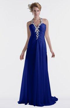 ColsBM Eden Electric Blue Cinderella A-line Sweetheart Sleeveless Criss-cross Straps Brush Train Plus Size Bridesmaid Dresses