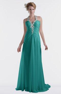 ColsBM Eden Emerald Green Cinderella A-line Sweetheart Sleeveless Criss-cross Straps Brush Train Plus Size Bridesmaid Dresses