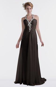 ColsBM Eden Fudge Brown Cinderella A-line Sweetheart Sleeveless Criss-cross Straps Brush Train Plus Size Bridesmaid Dresses
