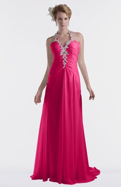 ColsBM Eden Fuschia Cinderella A-line Sweetheart Sleeveless Criss-cross Straps Brush Train Plus Size Bridesmaid Dresses