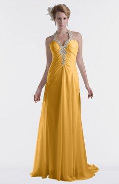 ColsBM Eden Golden Cream Cinderella A-line Sweetheart Sleeveless Criss-cross Straps Brush Train Plus Size Bridesmaid Dresses