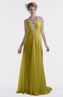 ColsBM Eden Golden Olive Cinderella A-line Sweetheart Sleeveless Criss-cross Straps Brush Train Plus Size Bridesmaid Dresses