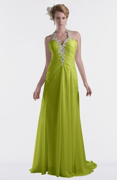 ColsBM Eden Green Oasis Cinderella A-line Sweetheart Sleeveless Criss-cross Straps Brush Train Plus Size Bridesmaid Dresses
