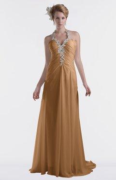 ColsBM Eden Light Brown Cinderella A-line Sweetheart Sleeveless Criss-cross Straps Brush Train Plus Size Bridesmaid Dresses