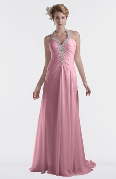 ColsBM Eden Light Coral Cinderella A-line Sweetheart Sleeveless Criss-cross Straps Brush Train Plus Size Bridesmaid Dresses