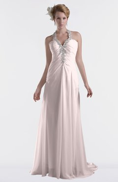 ColsBM Eden Light Pink Cinderella A-line Sweetheart Sleeveless Criss-cross Straps Brush Train Plus Size Bridesmaid Dresses