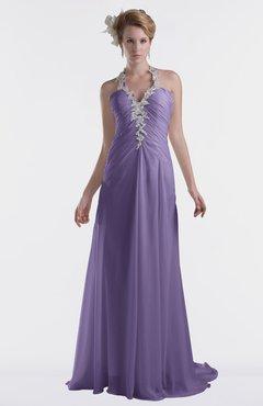 ColsBM Eden Lilac Cinderella A-line Sweetheart Sleeveless Criss-cross Straps Brush Train Plus Size Bridesmaid Dresses