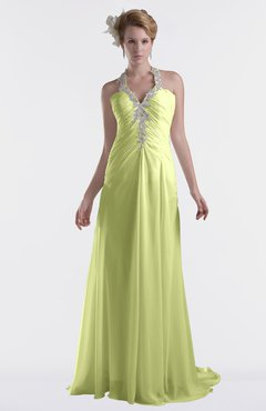 ColsBM Eden Lime Green Cinderella A-line Sweetheart Sleeveless Criss-cross Straps Brush Train Plus Size Bridesmaid Dresses