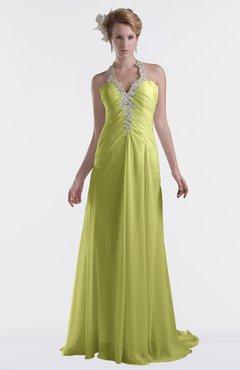 ColsBM Eden Linden Green Cinderella A-line Sweetheart Sleeveless Criss-cross Straps Brush Train Plus Size Bridesmaid Dresses