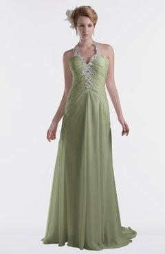 ColsBM Eden Moss Green Cinderella A-line Sweetheart Sleeveless Criss-cross Straps Brush Train Plus Size Bridesmaid Dresses