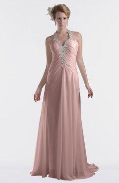 ColsBM Eden Nectar Pink Cinderella A-line Sweetheart Sleeveless Criss-cross Straps Brush Train Plus Size Bridesmaid Dresses
