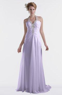 ColsBM Eden Pastel Lilac Cinderella A-line Sweetheart Sleeveless Criss-cross Straps Brush Train Plus Size Bridesmaid Dresses