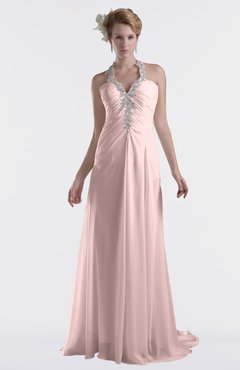ColsBM Eden Pastel Pink Cinderella A-line Sweetheart Sleeveless Criss-cross Straps Brush Train Plus Size Bridesmaid Dresses