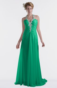 ColsBM Eden Pepper Green Cinderella A-line Sweetheart Sleeveless Criss-cross Straps Brush Train Plus Size Bridesmaid Dresses