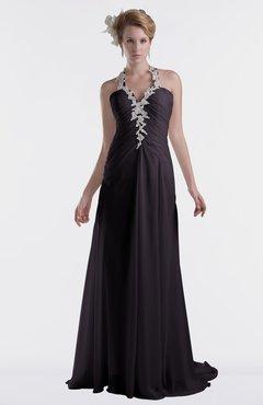 ColsBM Eden Perfect Plum Cinderella A-line Sweetheart Sleeveless Criss-cross Straps Brush Train Plus Size Bridesmaid Dresses
