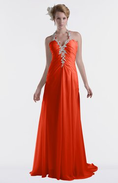 ColsBM Eden Persimmon Cinderella A-line Sweetheart Sleeveless Criss-cross Straps Brush Train Plus Size Bridesmaid Dresses