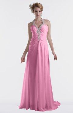 e3f5a3ea801b0 ColsBM Eden Pink Cinderella A-line Sweetheart Sleeveless Criss-cross Straps  Brush Train Plus