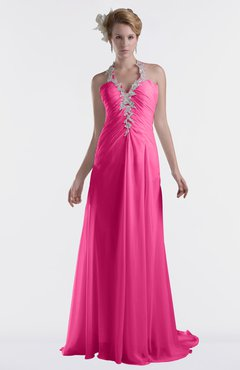 ColsBM Eden Rose Pink Cinderella A-line Sweetheart Sleeveless Criss-cross Straps Brush Train Plus Size Bridesmaid Dresses