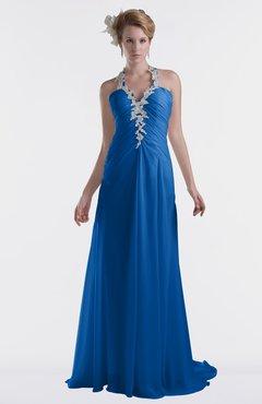 ColsBM Eden Royal Blue Cinderella A-line Sweetheart Sleeveless Criss-cross Straps Brush Train Plus Size Bridesmaid Dresses