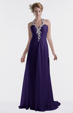 ColsBM Eden Royal Purple Cinderella A-line Sweetheart Sleeveless Criss-cross Straps Brush Train Plus Size Bridesmaid Dresses